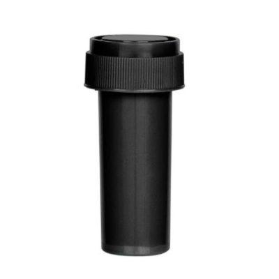 Opaque Black Reversible Cap Vial 08 Dram
