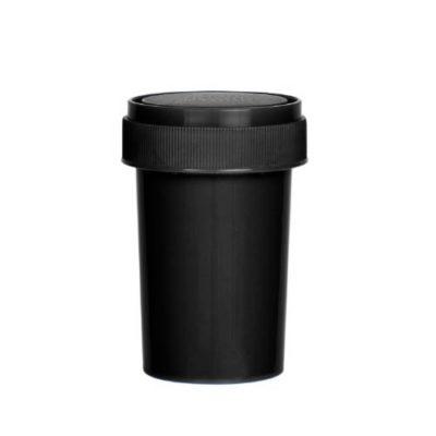 Black Reversible Cap Vial 20 Dram
